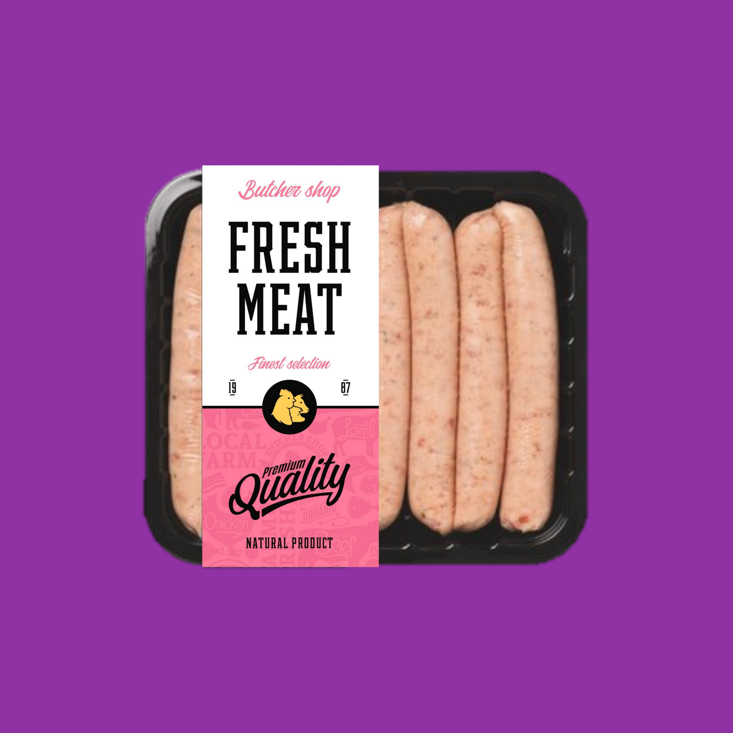 chilled meat food label