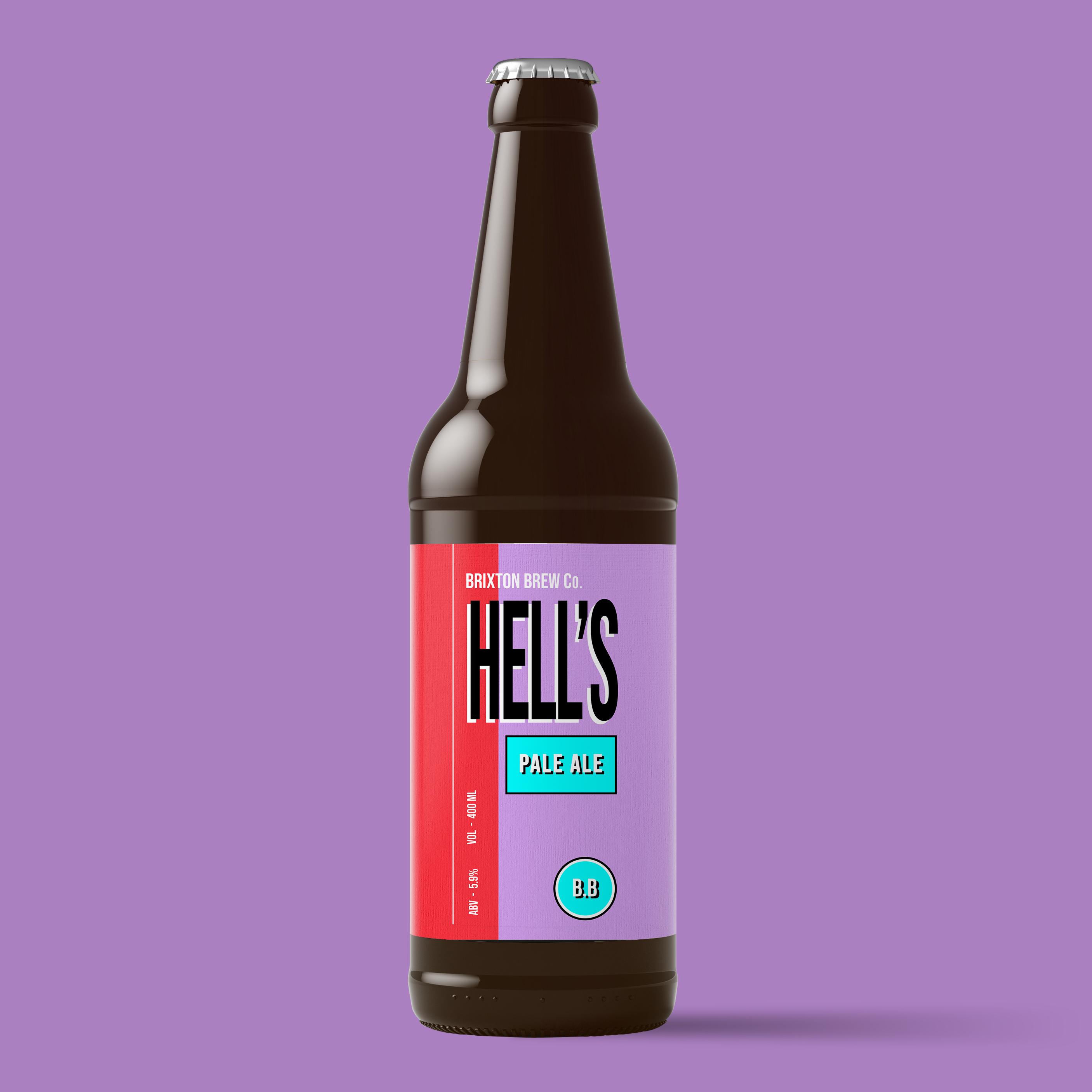 hells pale ale label