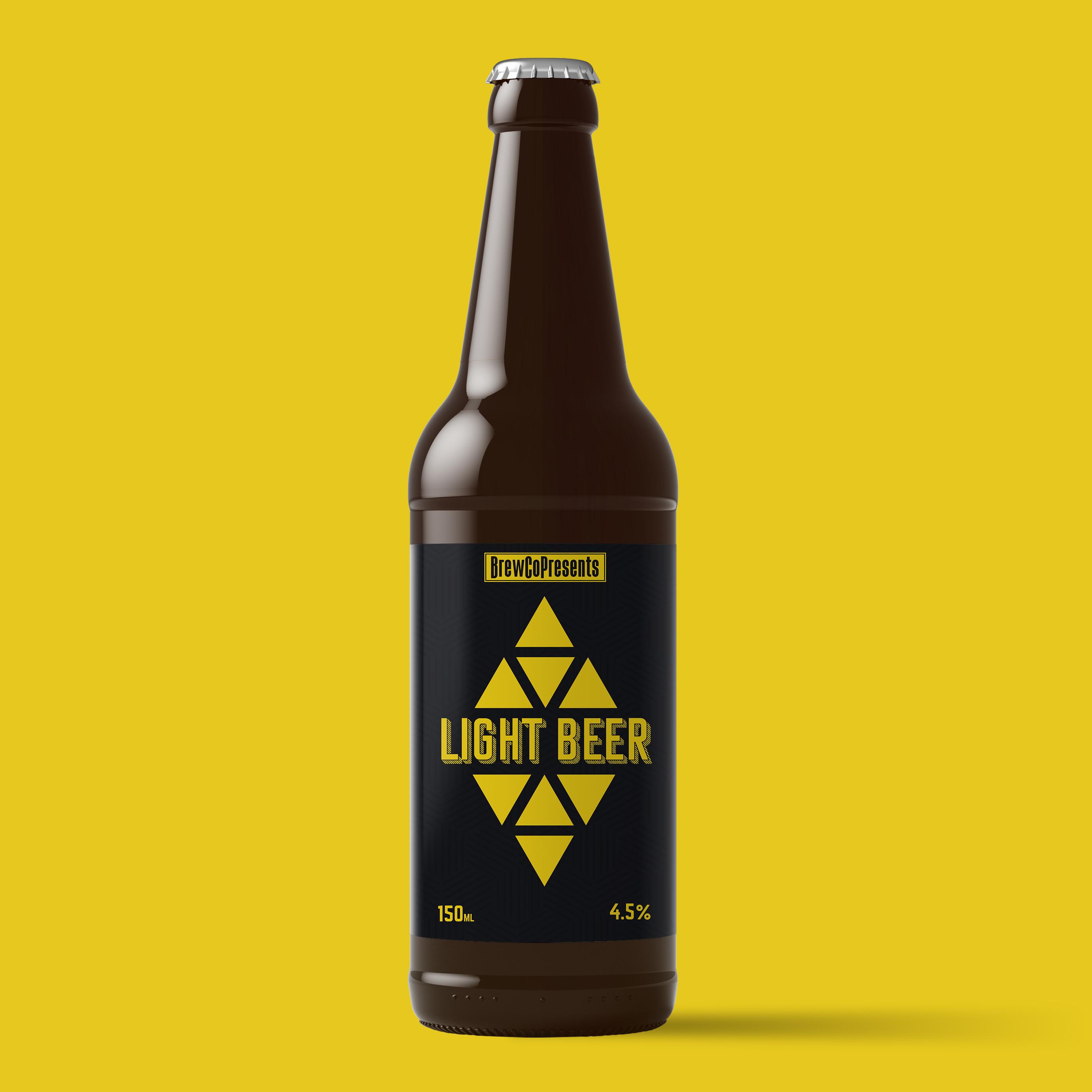light beer label