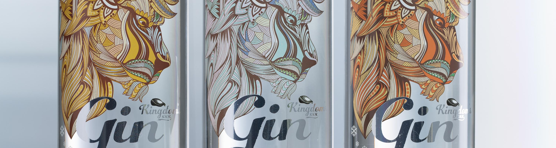 kingdom gin bottle
