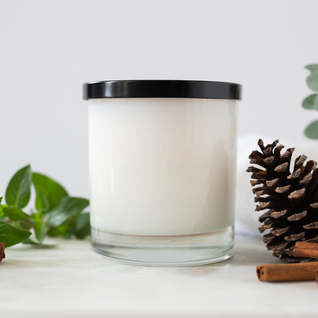 plain candle jar
