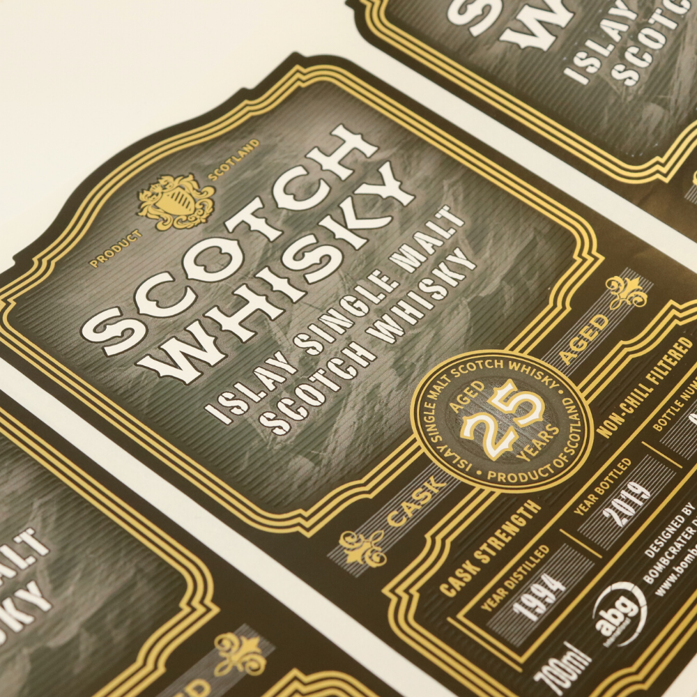 Whisky labels